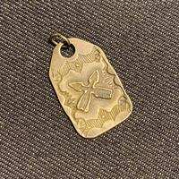 """1920's """"Navajo"""" Vintage Silver Necklace Top"""