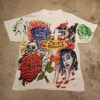 """1990's """" Ozzy Osbourne """" Tattoo Pattern T-Shirt SIZE : L"""