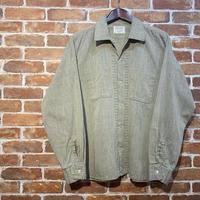 """~1970's """"Yolden Arrow"""" Open Callar Shirt  Silver : M,L"""