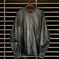 "1990's ""Ralph Lauren"" Full-Zip Leather Jacket SIZE : L位"
