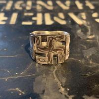 "1920's ""Navajo"" Swastika Ring SIZE : 20.5号"