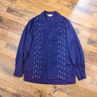 """1950's """"Henly Amber"""" Rayon Shirt SIZE : M"""