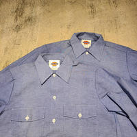 """1990's """"Dickies"""" Chambray Shirt Dead Stock SIZE : 14-14 1/2"""
