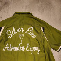 """1960's~ """"Hilton"""" Bowling Shirt SIZE : L"""