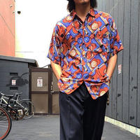 """1990's """"COLORE"""" Short Sleeve Rayon Shirt SIZE : L"""