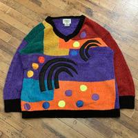 "1990's ""CERVLLE"" Acryl Knit Sweater SIZE : XL"