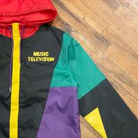 """Music Television"" Nylon Jacket Dead Stock SIZE : M,L"