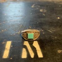 "1950's ""Navajo"" Vintage Silver Ring SIZE : 16号"