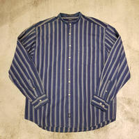 "1990's ""Levi's"" DOCKERS Indigo Stripe Shirt SIZE : L"