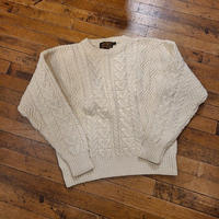 """~1990's """"Eddie Bauer"""" Cotton Fisherman Knit SIZE : M"""