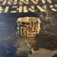 "1920's ""Navajo"" Swastika Ring SIZE : 21号"