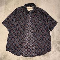 "~1990's ""MAXX FM"" Short Sleeve Rayon Shirt SIZE : L"