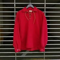 """1960's"""" Ponderosa """" Cotton Lace Up Shirt SIZE : M"""