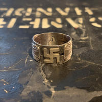 "1930's ""Navajo"" Swastika Ring SIZE : 21号"
