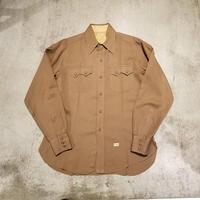 "1940's ""Pacific Mills"" Woolen   Gabardine Shirt"