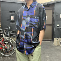 "1990's ""GOOUCH"" S/S Silk Shirt SIZE : L"
