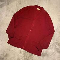 "1950's ""N.L.Whiting Co."" Knit Cardigan SIZE : L"