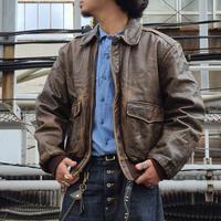 "1980's ""Banana Republic"" A-2 Type Leather Jacket SIZE : 42"