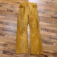 """1970's """"Levi's"""" Suede Pants SIZE : W29 L30"""