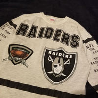 "1990's ""RAIDERS"" Foot Ball Tee SIZE : L"