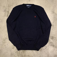 "1990's ""Polo by Ralph Lauren"" Cotton Knit Tops SIZE : M"