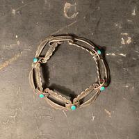 """1940's """"Navajo"""" Vintage Silver Bracelet SIZE : 全長17cm"""