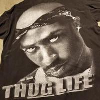 "1990's~ "" THUG LIFE "" L/S Tee SIZE : 3XL"