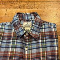 """""""L.L.Bean"""" Short Sleeve Linen Shirt SIZE : M"""