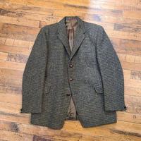 "1960's ""Map"" Harris Tweed Tailored Jacket SIZE : 40"