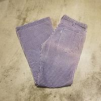 "1970's ""Levi's"" Gingham Check Pants SIZE : W34 L30"
