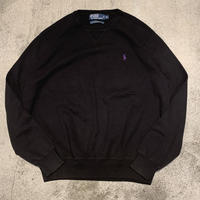 "1990's ""Polo by Ralph Lauren"" Cotton Knit Tops SIZE : XL"