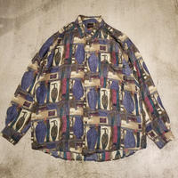 """1990's """"STRUCTURE"""" Silk Shit SIZE : L"""