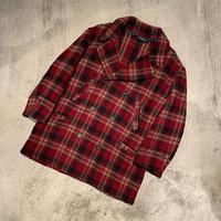 """1990's """"Polo by Ralph Lauren"""" Plaid P Coat SIZE : L"""