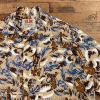 """BLUE Paradise"" Hawaiian Shirts SIZE : L"