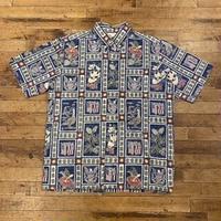 "1990's""reyn spooner"" Aloha Shirt SIZE : L"