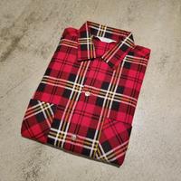 "1960's ""DAN RIVER"" Print Flannel Shirt Dead Stock SIZE : M"