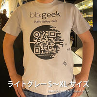 bb:geek オリジナルTシャツ ライトグレー S~XL