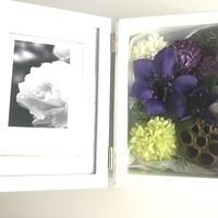 送料無料【フォトフレーム  モダン 仏花】凛とした佇まいの紫スタイル*BF01