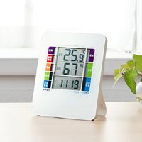 インフルエンザ&熱中症表示付きデジタル温湿度計
