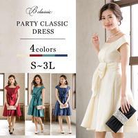 【S~3Lサイズ】パーティークラシックドレス(w15034-c)