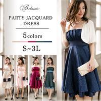 【S~3Lサイズ】パーティージャガードドレス(z17011-a)