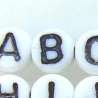 【全26種】チェコ製 ミニアルファベット 1種類・10個
