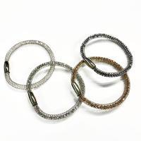 【全4色】クリスタルメッシュブレスレット マグネット金具