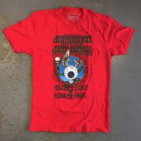 ジミ ヘンドリックス エキスペリエンス・フライング アイ ボール 1968 T-シャツ レッド