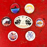 グレイトフル デッド・アソーテッド ヴィンテージ ボタン バンドル (7個セット)