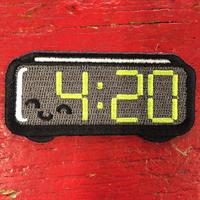 ウィード インディード!・420 アラーム クロック ワッペン (P-131)
