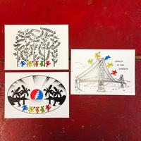 グレイトフル デッド・グリーティング カード 'グレイトフル ダンシング エディション' (3枚セット)