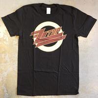 ジィー・ジィー・トップ・フェージング ZZ ロゴ T-シャツ ブラック