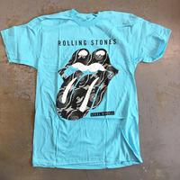 ザ ローリング ストーンズ・スティール ホイールズ 1989 T-シャツ ターコイズブルー