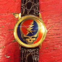 グレイトフル デッド・スティール ユア フェイス 電池式 腕時計 本革ベルト付き